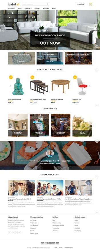 Thiết kế web bán hàng nội thất habitat