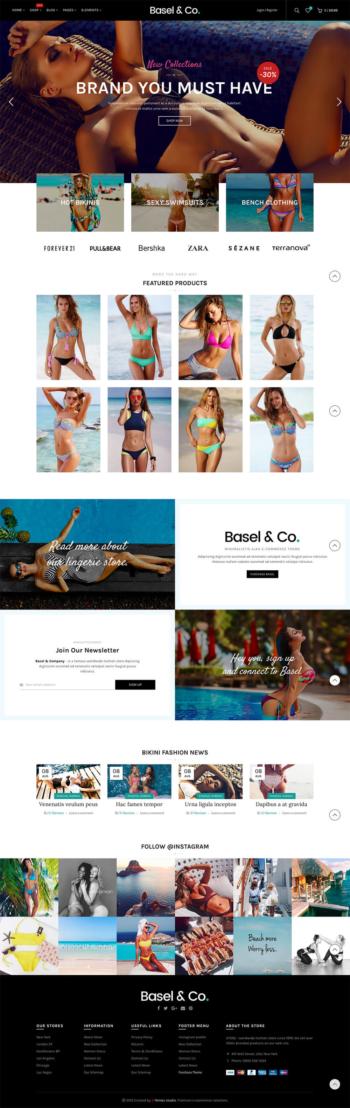 Website bán hàng thời Bikini Basel