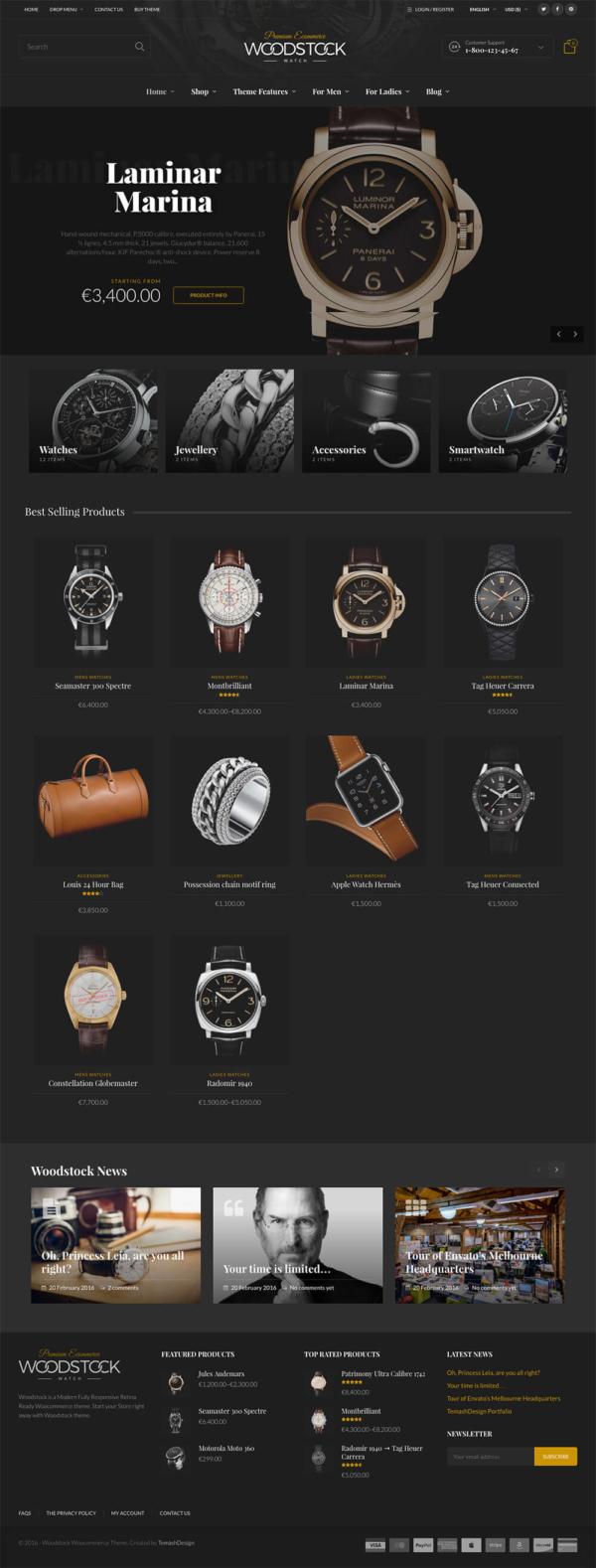 Thiết kế web bán hàng đồng hồ Wood