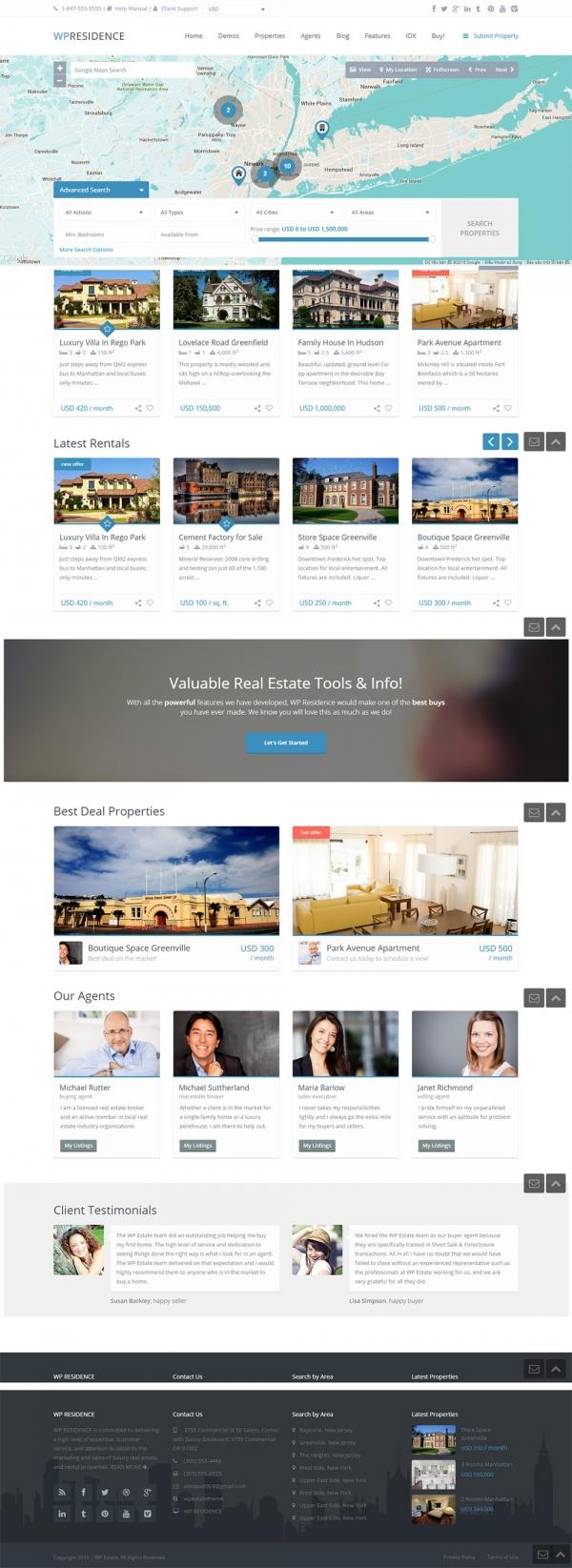 Mẫu website bất động sản chuyên nghiệp Residence