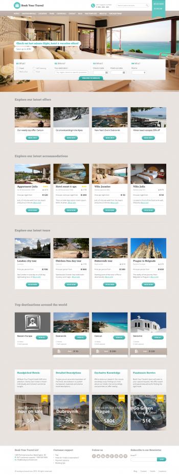 Mẫu web du lịch đẹp Travel