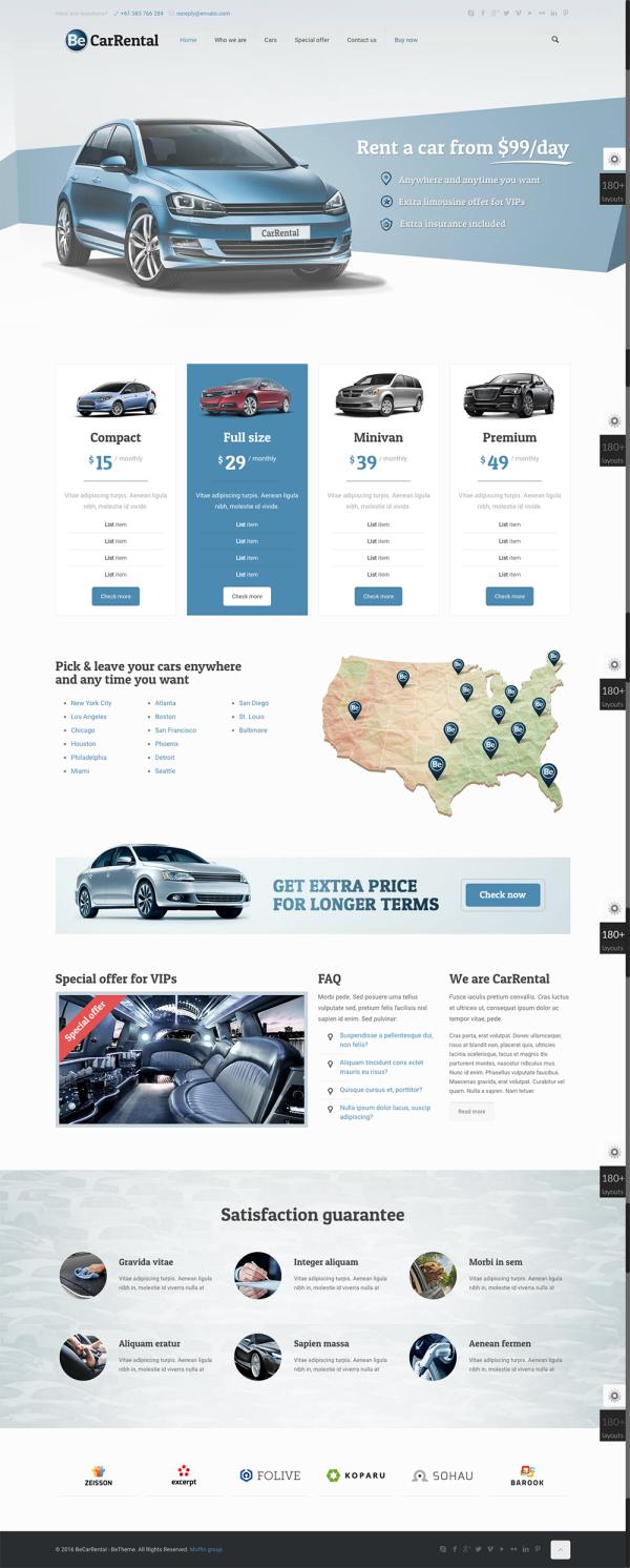 Thiết kế web thuê xe chuyên nghiệp CarRental