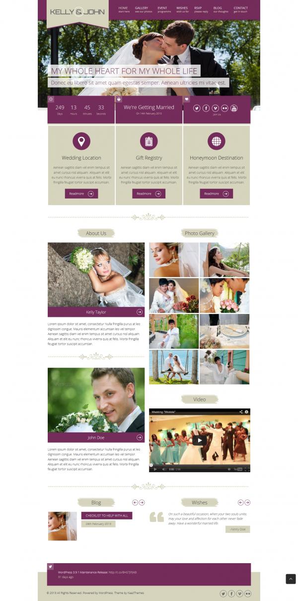 Thiết kế web áo cưới Kelly, mẫu web ảnh viện áo cưới đẹp