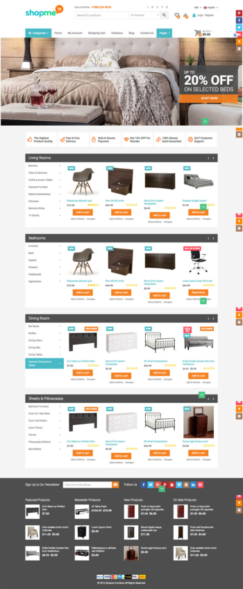 Thiết kế web bán hàng nội thất Shopme