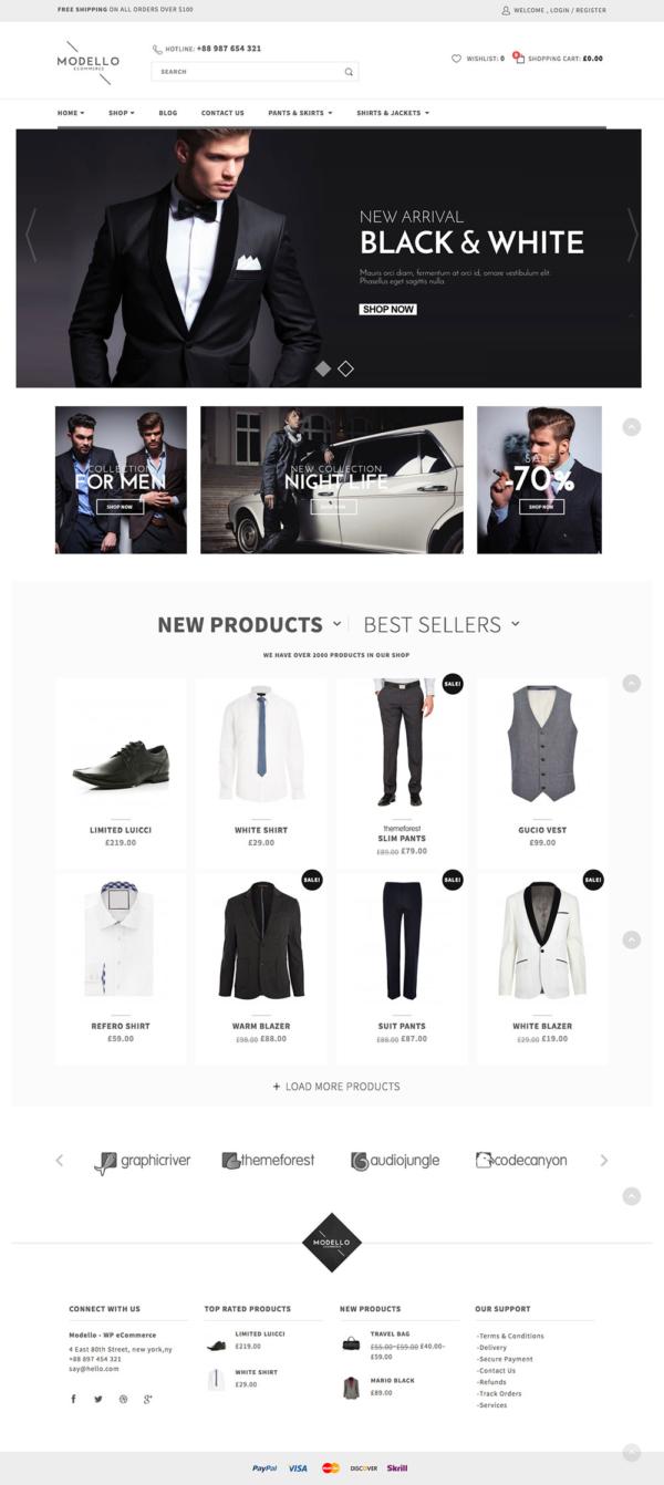 Thiết kế web bán hàng thời trang Modello