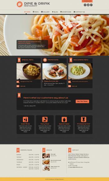 Thiết kế website cho nhà hàng Dine, mẫu website nhà hàng đẹp