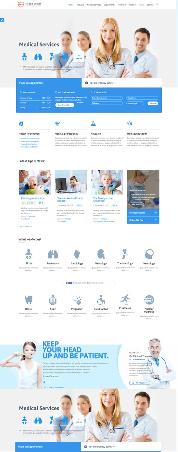 Thiết kế website phòng khám, bệnh viện, lĩnh vực y tế, phẫu thuật thẩm mỹ