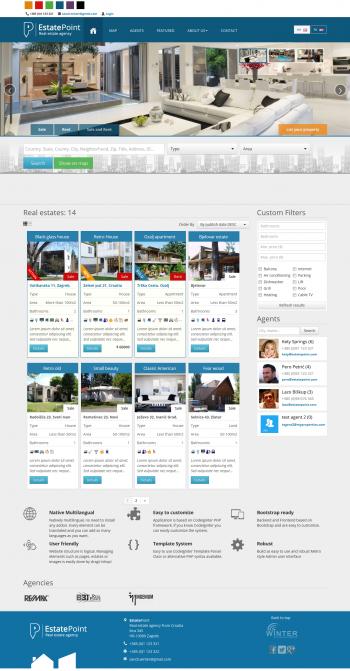 Thiết kế web rao vặt bất động sản Estate, Mẫu web rao vặt, mua bán bất động sản, nhà đất chuyên nghiệp