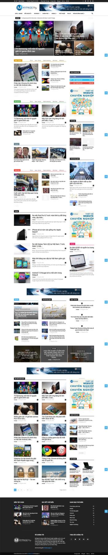 Thiết kế website tin tức Blog MP