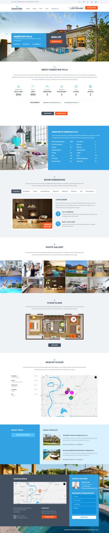 Thiết kế website bất động sản chuyên nghiệp – DreamVilla