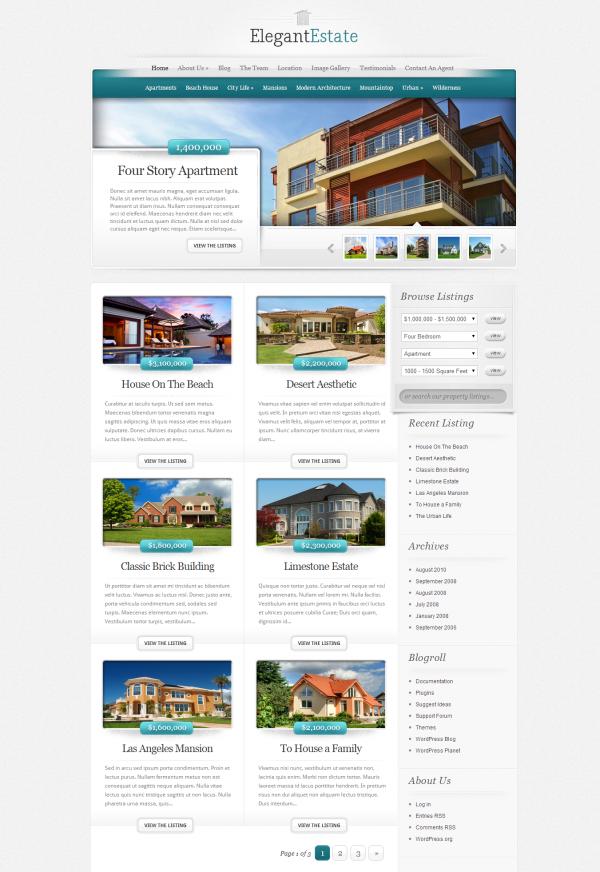Mẫu web bất động sản chuyên nghiệp Estate
