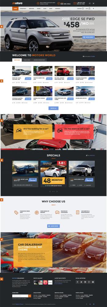 Mẫu web bán ô tô mô tô chuyên nghiệp