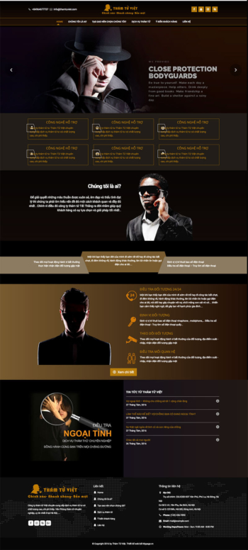 Mẫu website dịch vụ bảo vệ thám tử