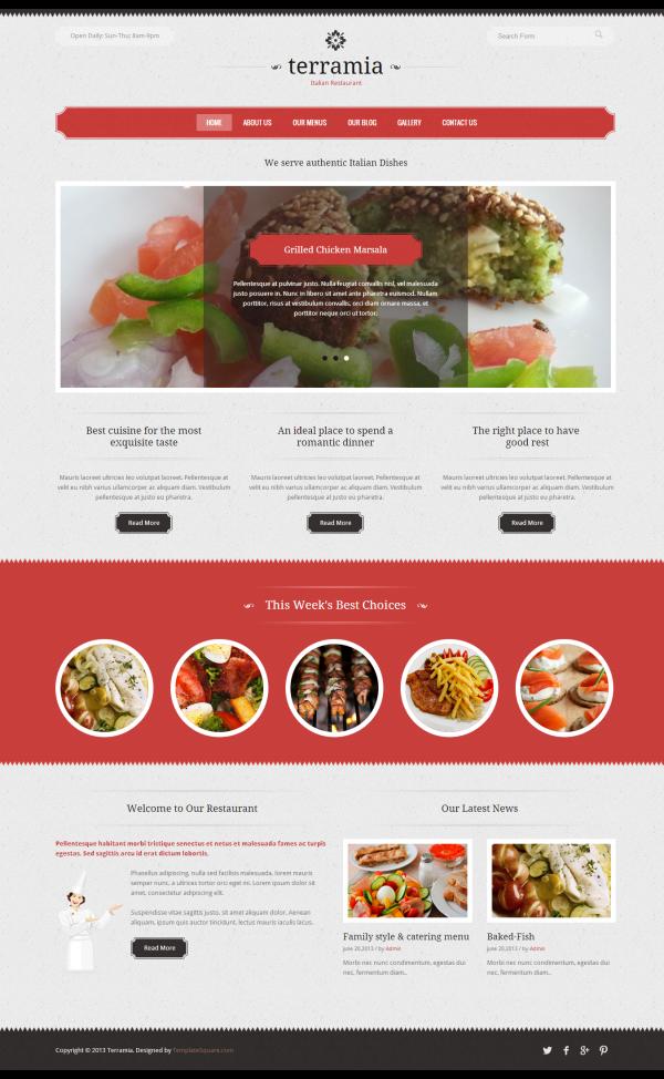 Website giới thiệu cửa hàng cafe Terramia