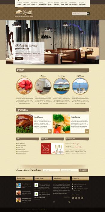 Mẫu website cho nhà hàng chuyên nghiệp