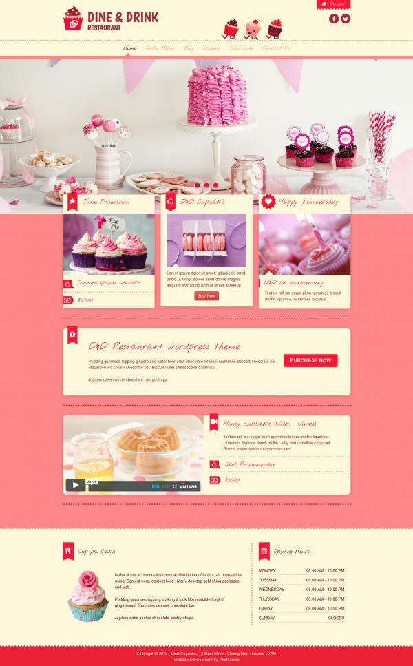 Thiết kế web cho quán kem D&D