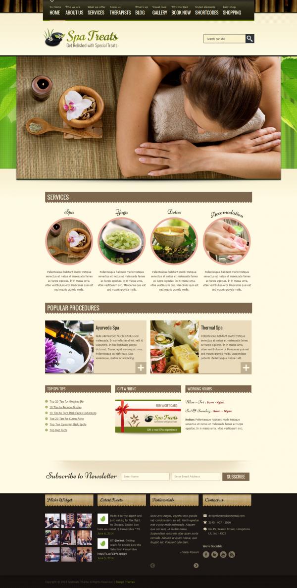 Thiết kế web cho Spa Streat