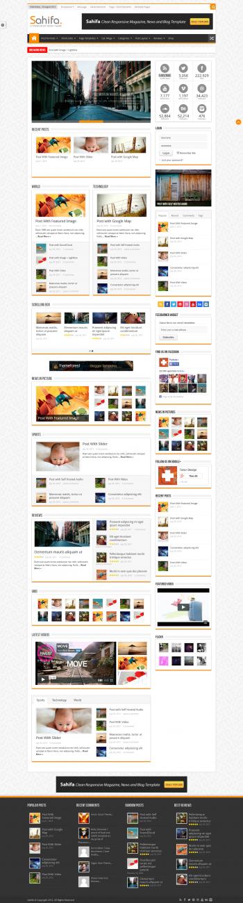 Mẫu website tin tức Sahifa