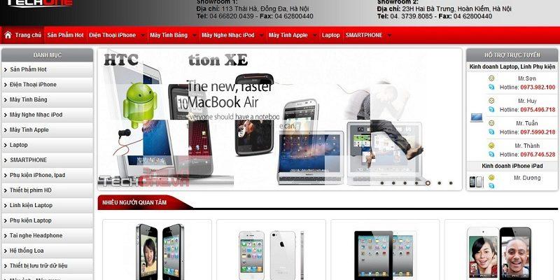 Thiết kế website điện thoại máy tính