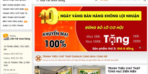 Thiết kế website tranh thêu chữ thập