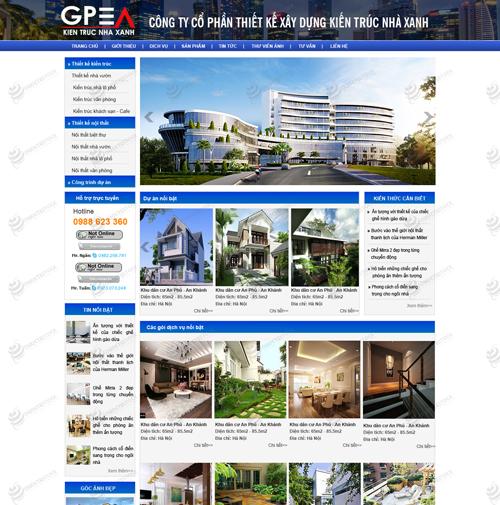 Thiết kế web bất động sản nhà đất