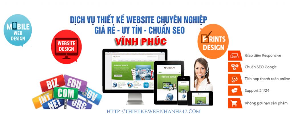 Thiết kế web giá rẻ vĩnh phúc