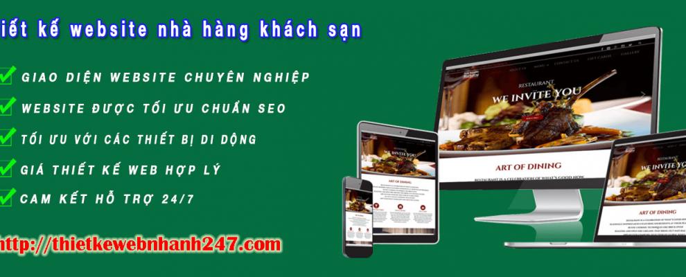 Thiết kế web nhà hàng khách sạn uy tín chuyên nghiệp