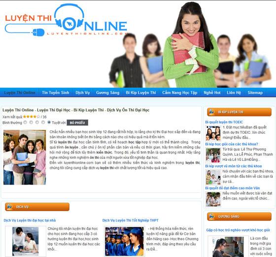 Thiết kế web ôn thi trực tuyến