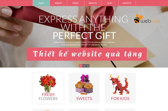 Thiết kế web shop quà tặng quà lưu niệm