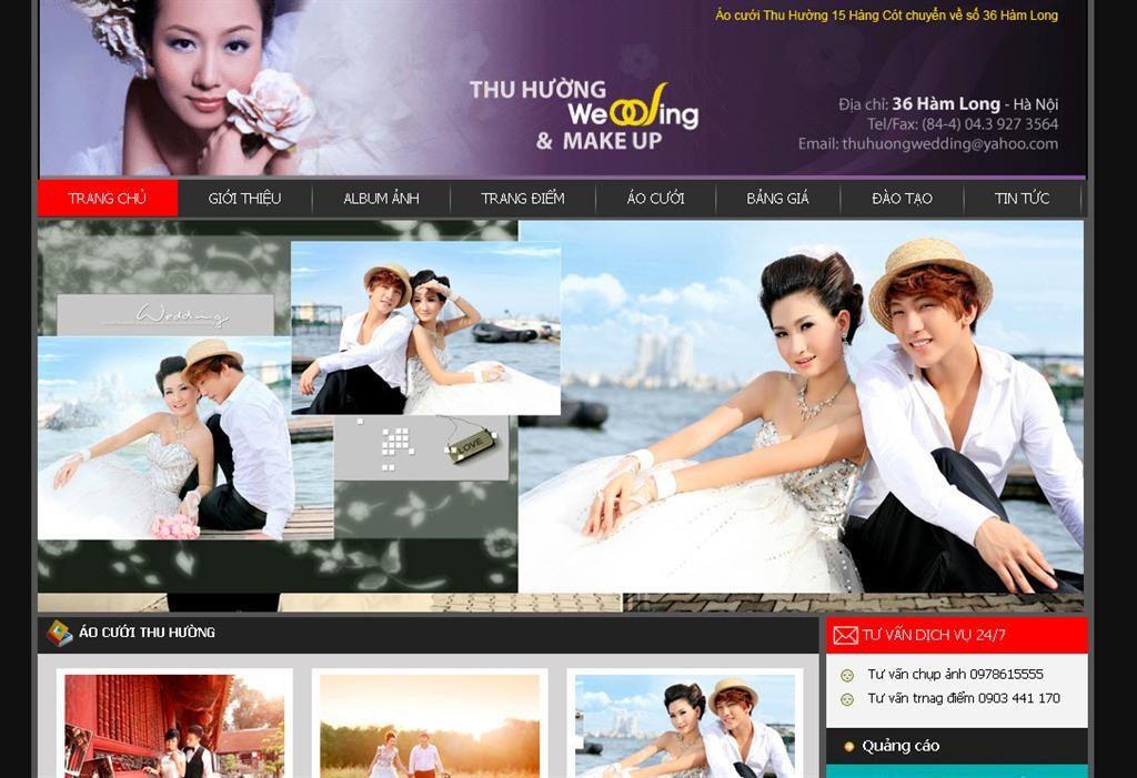 Thiết kế web ảnh viện áo cưới