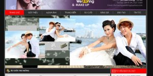Thiết kế website ảnh viện (studio) áo cưới đẹp