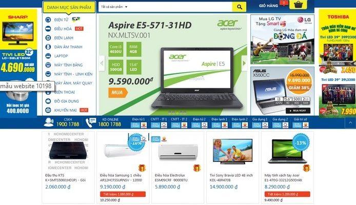 Thiết kế website shop điện tử – điện lạnh chuyên nghiệp