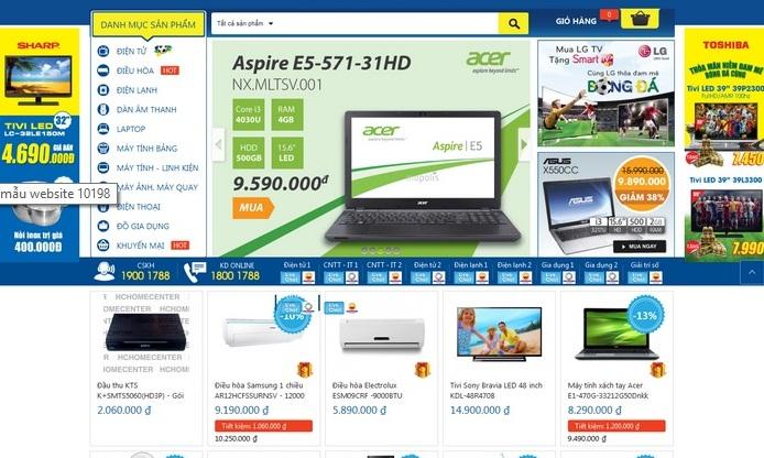 Thiết kế web bán hàng điện tử điện lạnh