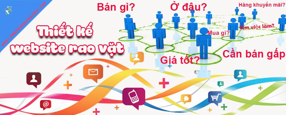 Thiết kế web rao vặt chuyên nghiệp chuẩn SEO