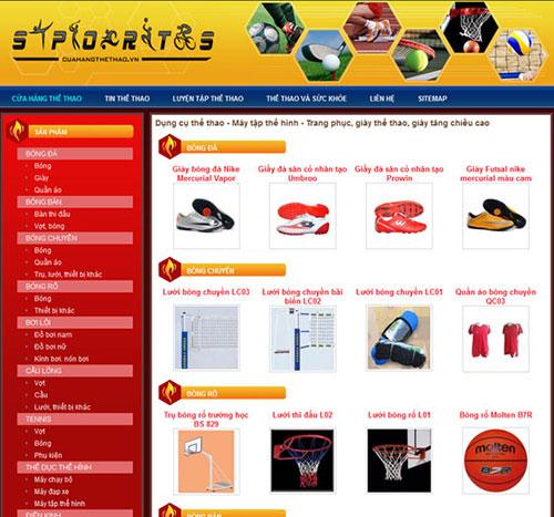 Thiết kế web bán đồ thể thao