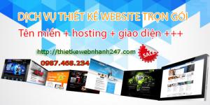 Thiết kế web trọn gói giá rẻ uy tín chuyên nghiệp chuẩn SEO