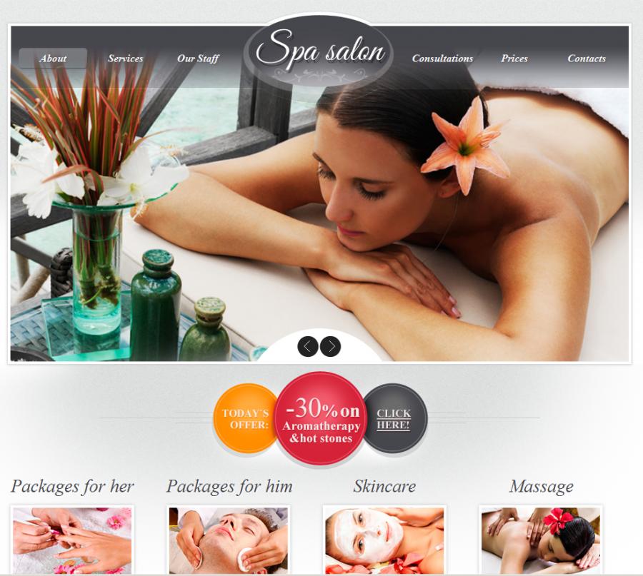 Thiết kế web làm đẹp-spa-thẩm mỹ viện