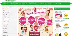 Thiết kế web cho mẹ và bé