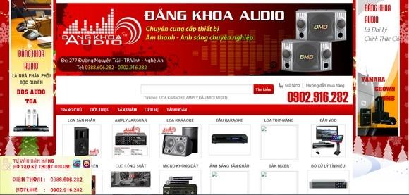 Thiết kế web thiết bị âm thanh