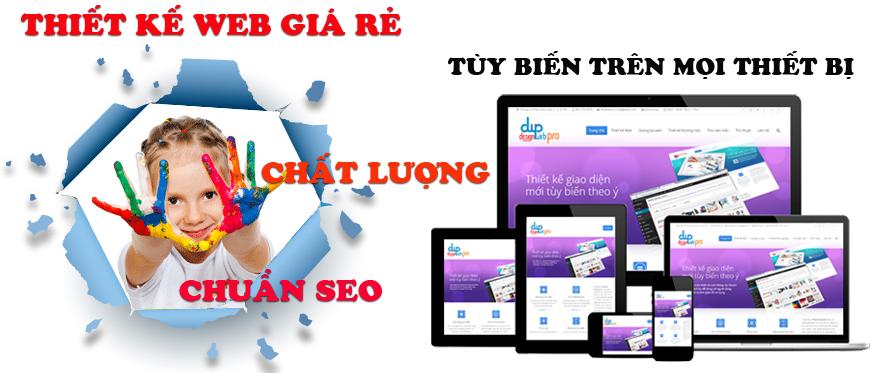 Thiết kế web giá rẻ chuẩn seo chuyên nghiệp