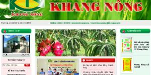 Thiết kế web nông nghiệp uy tín