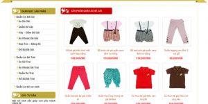 Làm trang web bán quần áo trẻ em