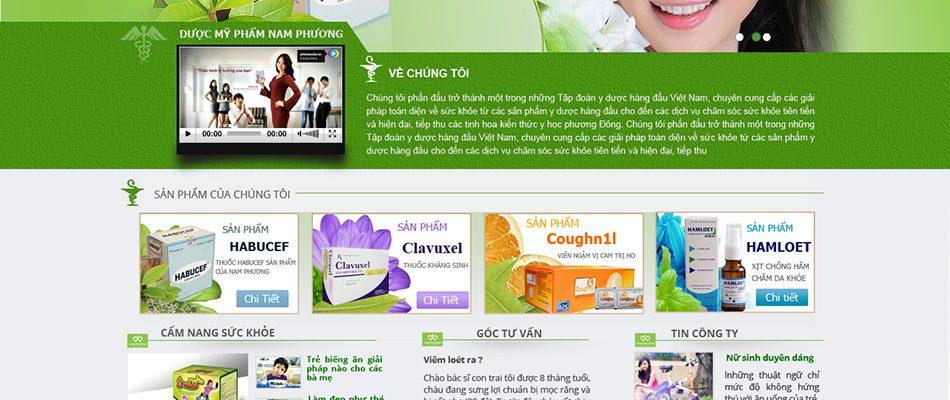 Thiết kế web bán shop dược phẩm chuyên nghiệp