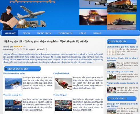 Thiết kế web dịch vụ vận tải( Cho thuê, Thuê chung)