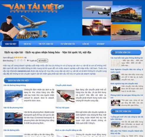 Thiết kế web dịch vụ vận tải