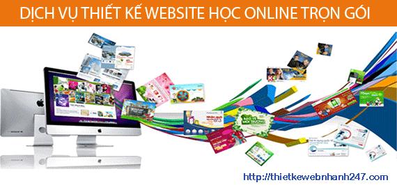 Thiết kế web học online chuyên nghiệp