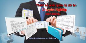 Thiết kế web quản lý dự án chuyên nghiệp