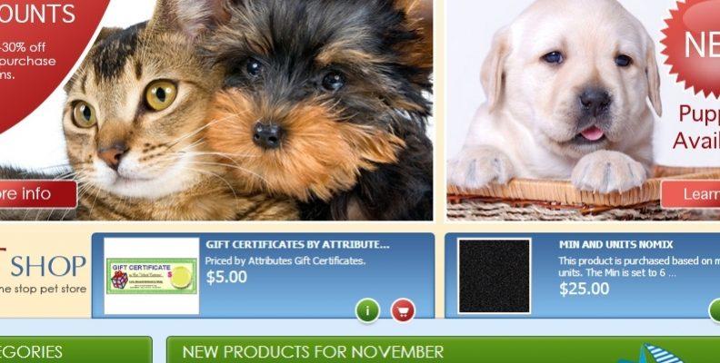 Thiết kế website bán thú cưng