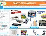 Thiết kế web bán hàng văn phòng phẩm