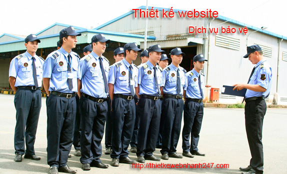 Thiết kế web dịch vụ bảo vệ uy tín chuyên nghiệp